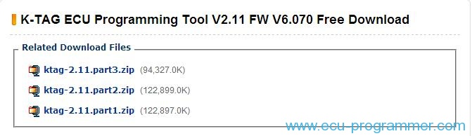 K-TAG ECU Programming Tool V2.11 FW V6.070 Free Download